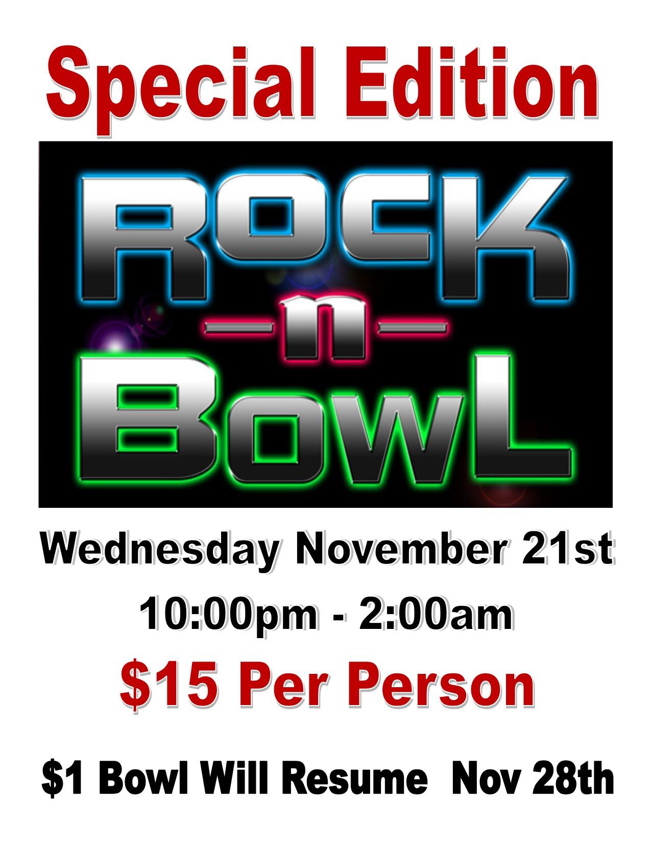 Thanksgiving Eve Rock N Bowl