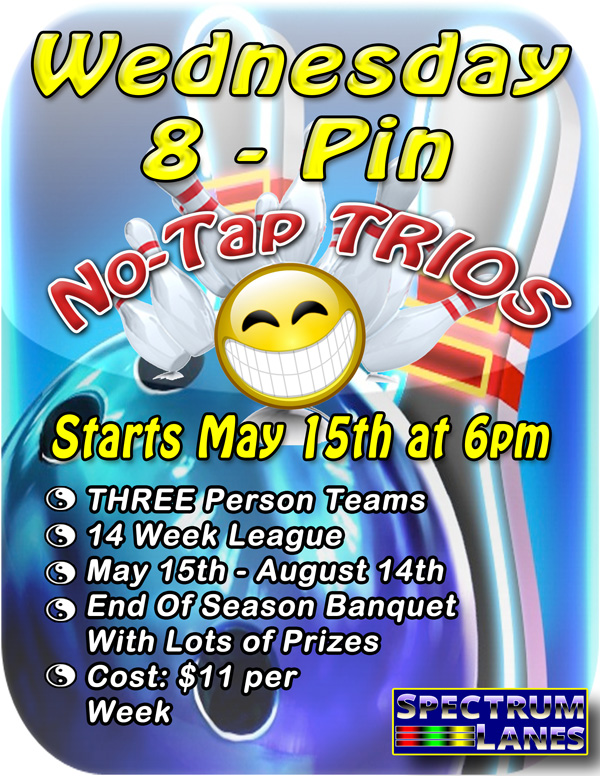 Wednesday 8-pin No Tap League League